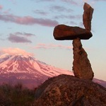 Mount Shasta environmental sculpture by steve crowningshield