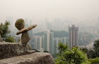 Hong Kong Highrise environmental sculpture by steve crowningshield
