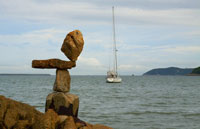 Hong Kong Sailboat environmental sculpture by steve crowningshield