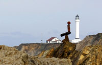 Point Arena Lighthouse environmental sculpture by steve crowningshield