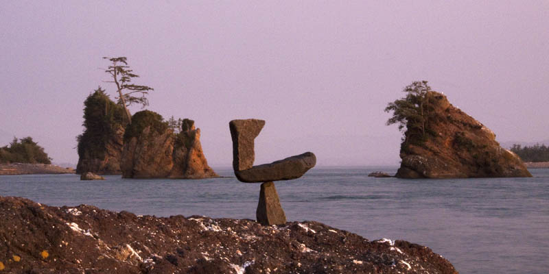 Oregon Coast Twilight Environmental Sculpture By Steve Crowningshield