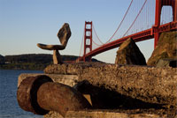 Golden Gate Bridge from Marin environmental sculpture by steve crowningshield